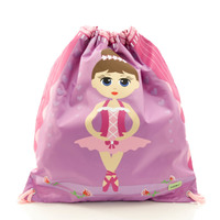 BobbleArt Kids Drawstring Bag - Ballerina