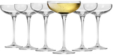Krosno Vinoteca Champagne Cocktail Saucer 240ML Set of 6 Gift Boxed
