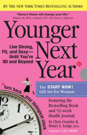 Younger Next Year the Book & Journal Gift Set for Women by Christopher Crowley