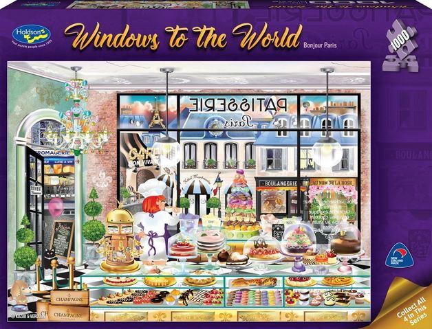 Holdson: 1,000 Piece Puzzle - Windows of the World (Bonjour Paris)