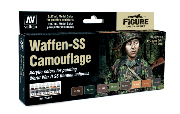 Vallejo Waffen SS Camouflage Model Colour Set