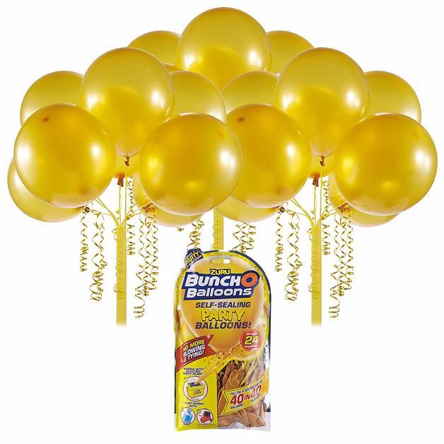 Bunch O' Balloons: Self Sealing Party Balloons - (24 x Gold)
