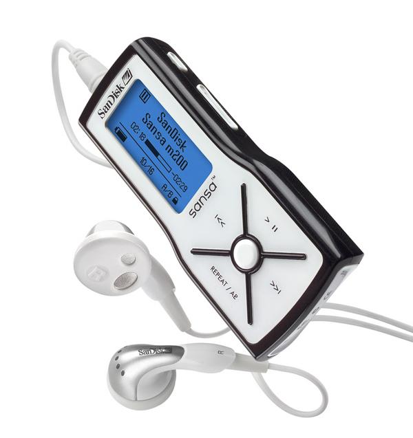 SANDISK Sandisk Sansa M200 MP3 Player 1GB image