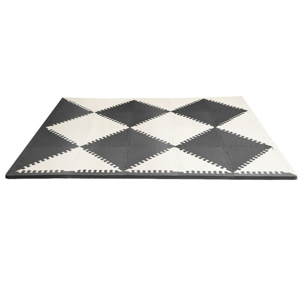 Skip Hop Playspot Geo Foam Floor Tiles - Black/Cream image