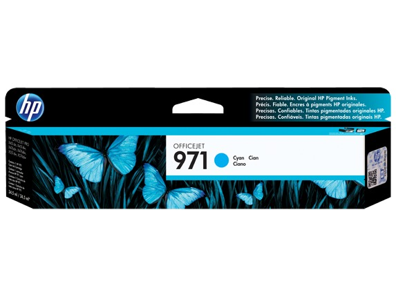HP 971 Ink Cartridge CN622AA - Cyan