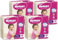 Huggies Ultra Dry Nappies Convenience Shipper: Toddler Girl 10-15kg (72)