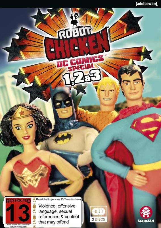 Robot Chicken DC Comics I-III on DVD