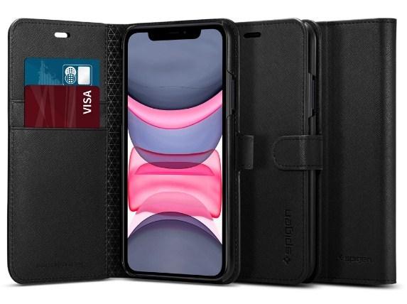 Spigen: iPhone 11 Wallet S - Saffiano Black