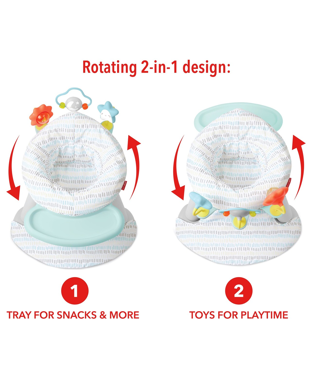 Skip Hop: Silver Lining Cloud - 2-In-1 Activity Seat image