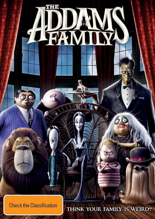 The Addams Family (2019) on DVD image