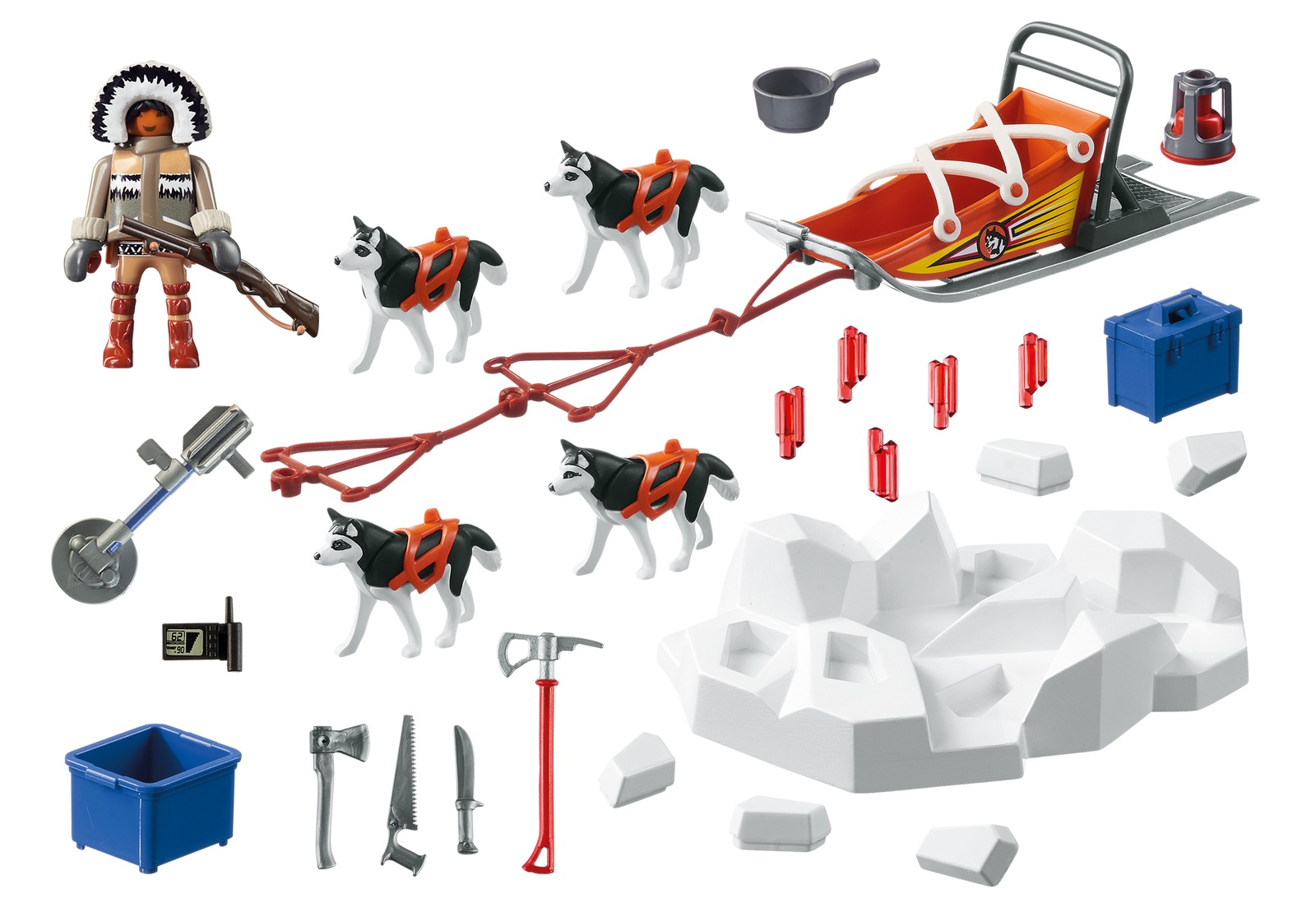 Playmobil: Action - Husky Drawn Sled (9057) image