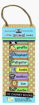 Green Start Book Towers: Little Animal Books by Ikids