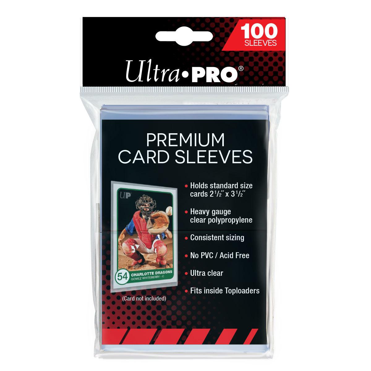 "Ultra Pro: Premium Card Sleeves (2-1/2"" x 3-1/2"") image"
