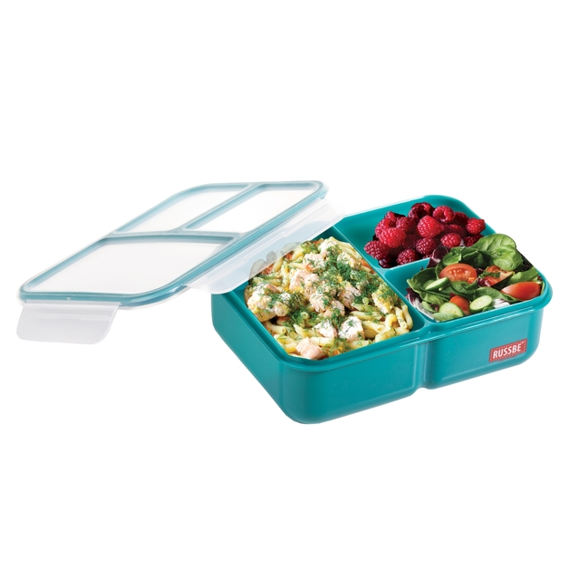 Russbe Inner Seal 3 Compartment Lunch Bento 1.6L - Teal