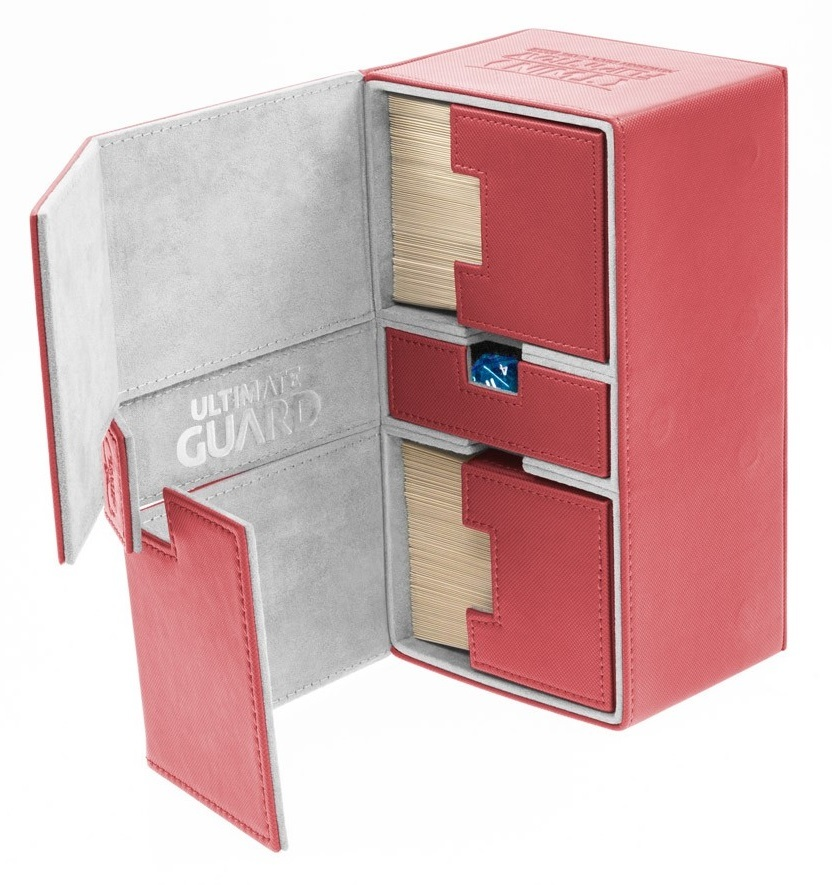 Ultimate Guard: 200+ XenoSkin Twin Flip'n'tray Deck Case (Red) image