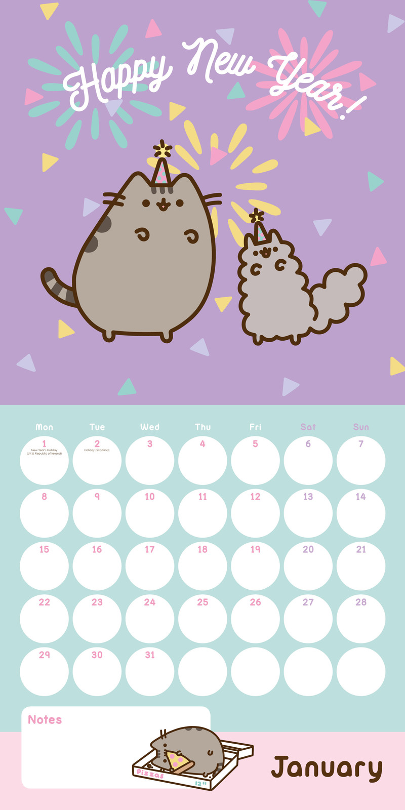 Buy Pusheen 2018 Square Wall Calendar at Mighty Ape NZ