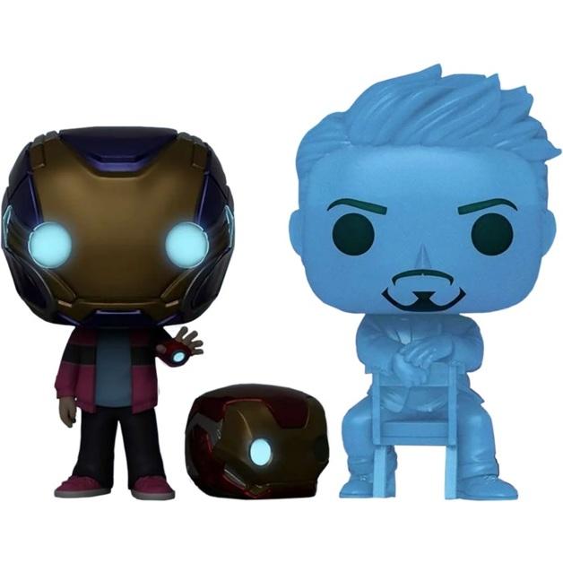 Avengers Endgame: Morgan & Hologram Tony (with Helmet) - Pop! Vinyl Figure 2-Pack