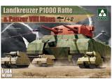 Takom 1/144 Landkreuzer P1000 Ratte & Panzer VIII Maus Model Kit