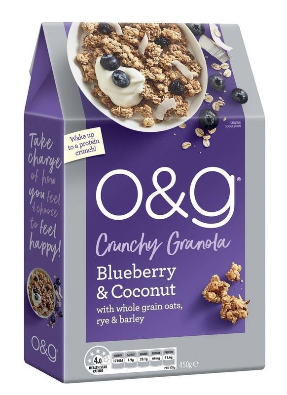 O&G: Crunchy Granola - Blueberry And Coconut (6 x 450g)