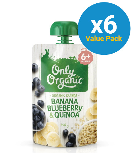 Only Organic: Stage 2 Banana B/Berry Quinoa (6 x 120g)