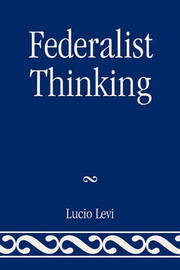 Federalist Thinking by Lucio Levi image