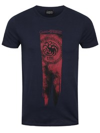 Game of Thrones: Targaryen Flag - Fire & Blood T Shirt (XL)