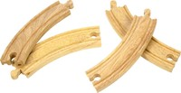 Bigjigs Rail Accessories - Long Curved Pieces
