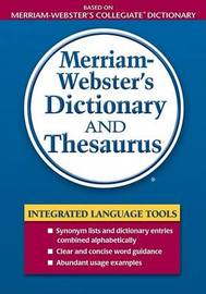 Merriam Webster's Dictionary and Thesaurus image