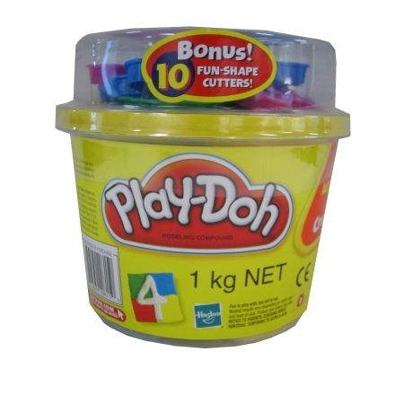 Play-doh 1 KG tub with 10 bonuscutters
