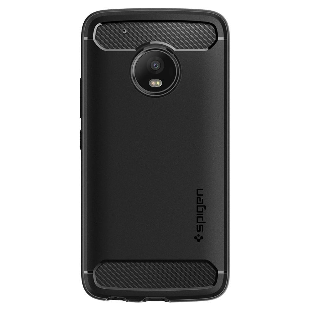 26de6b7f7d4 ... Spigen  Motorola Moto G5 Plus - Rugged Armour Case (Black) image ...