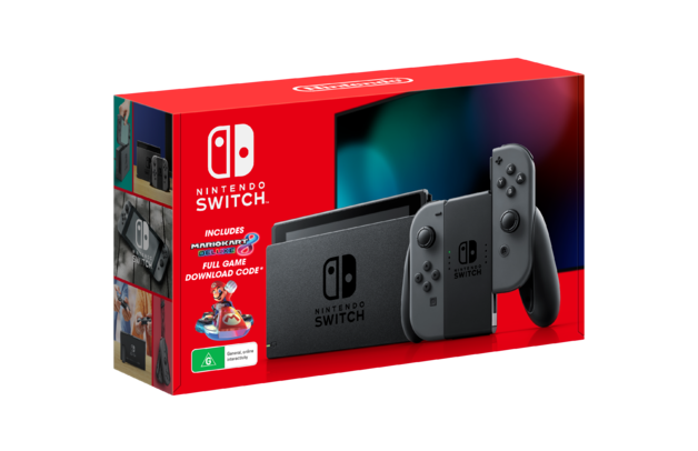 Nintendo Switch Mario Kart 8 Deluxe Grey Console Bundle for Switch