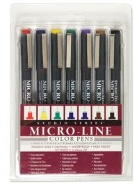 Studio Series Colored Micro-Line Pen Set (Set of 7)