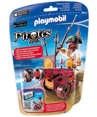 Playmobil: Foil Bag - Red Buccaneer & Cannon (6163)