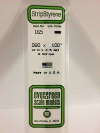 Evergreen Styrene Stripstyrene White 2X2.5 mm (8)