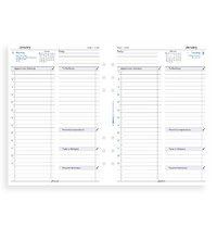 Filofax: A5 2020 Refill - Business Day per Page with Appointments & To Do List(Lined)