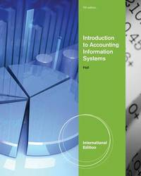 Accounting Information Systems by James A Hall image