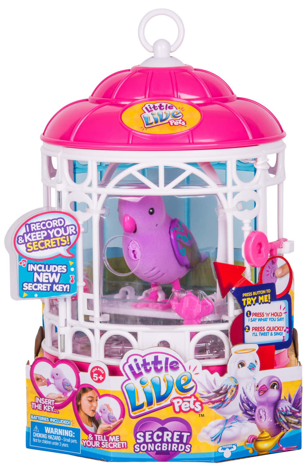 Little Live Pets: Secret Songbirds Bird Cage - Teenie Genie image