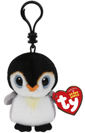 Ty Beanie Babies: Pongo Penguin - Clip On Plush