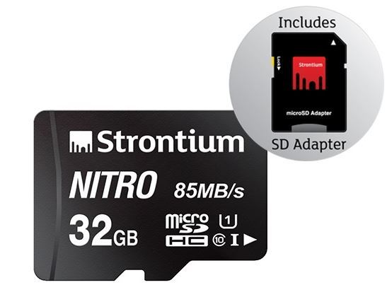 Strontium NITRO 32GB Micro SD With Adapter image