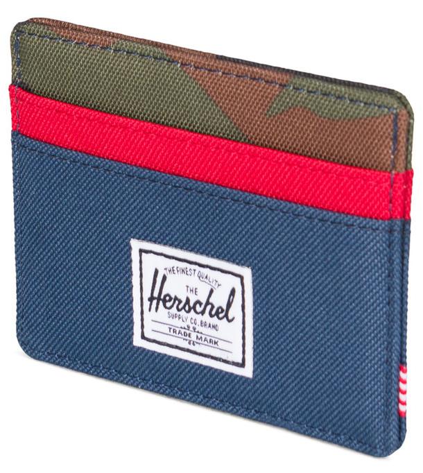 Herschel Supply Co: Charlie RFID Wallet - Navy/Red/Woodland Camo