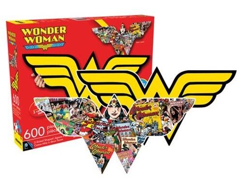 DC Comics: Wonder Woman Dual-Sided Logo 600-Piece Puzzle
