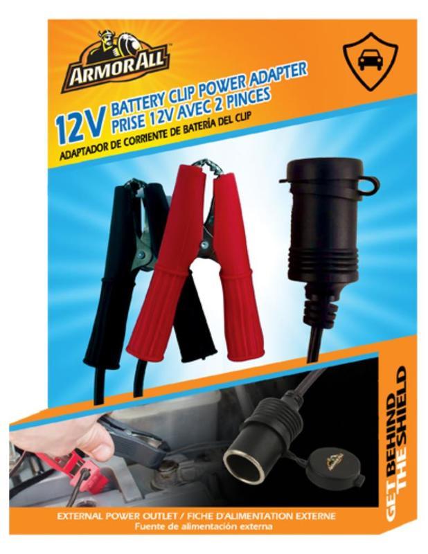 Armor All: 12V Battery Clip Power Adapter