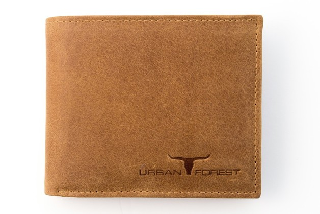 Urban Forest: Amos Leather Wallet w/ID Pocket - Cognac