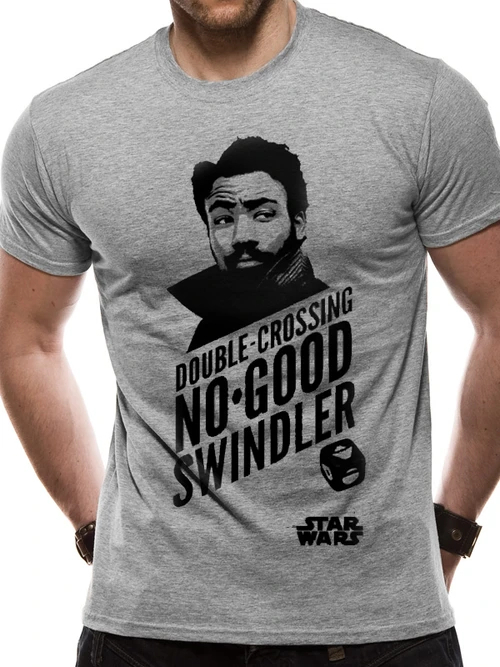 Star Wars - Hans Solo Movie - Lando T-Shirt Sports Grey - Small