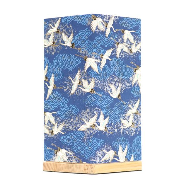 Kami Lamp Sky of Cranes (Blue)