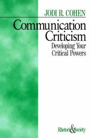 Communication Criticism by Jodi R. Cohen image