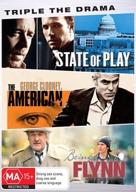 Triple The Drama (State Of Play, The American, Being Flynn) on DVD