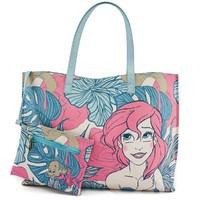 Loungefly Disney Ariel Leaves Pastel Tote