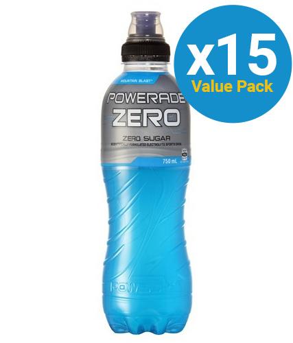 Powerade - Mountain Blast Zero 750ml (15 Pack)