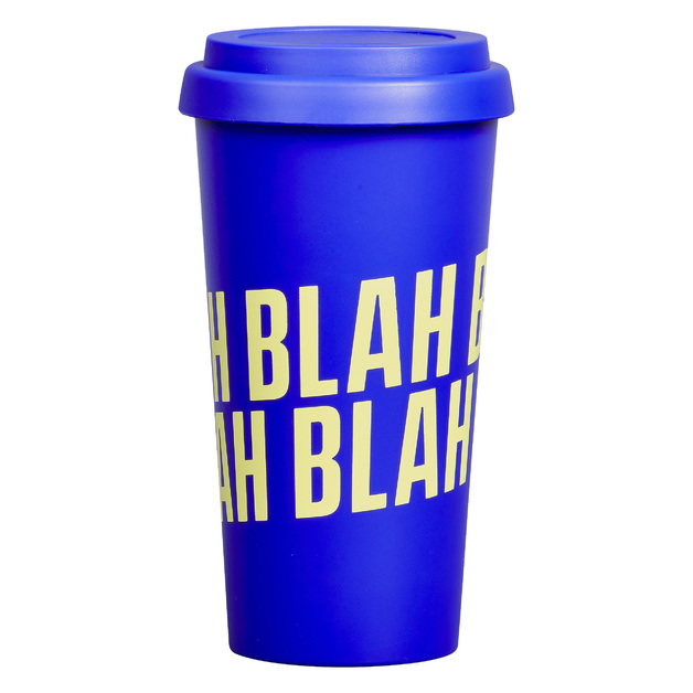 Travel Mug 'Blah Blah Blah'